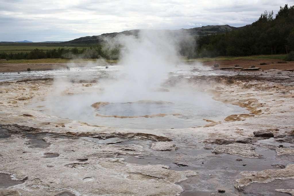 Strokkur, un geiser con bastante actividad geotérmica