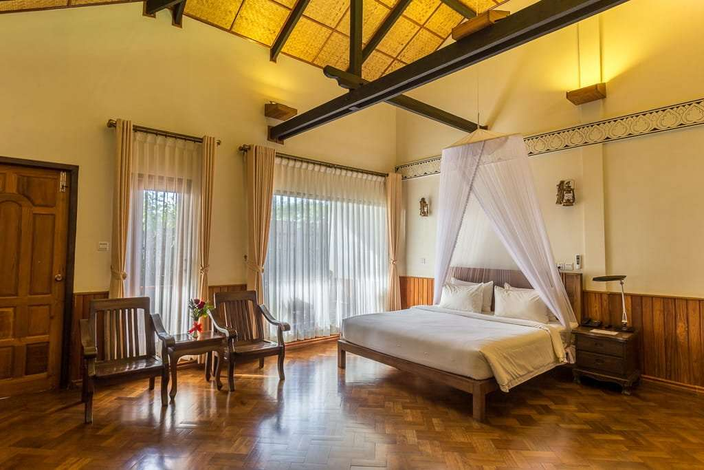 Habitación doble hotel Spring Lodge Inle