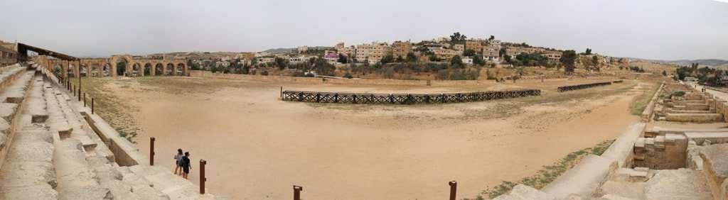 Panorámica del circo romano de Jerash