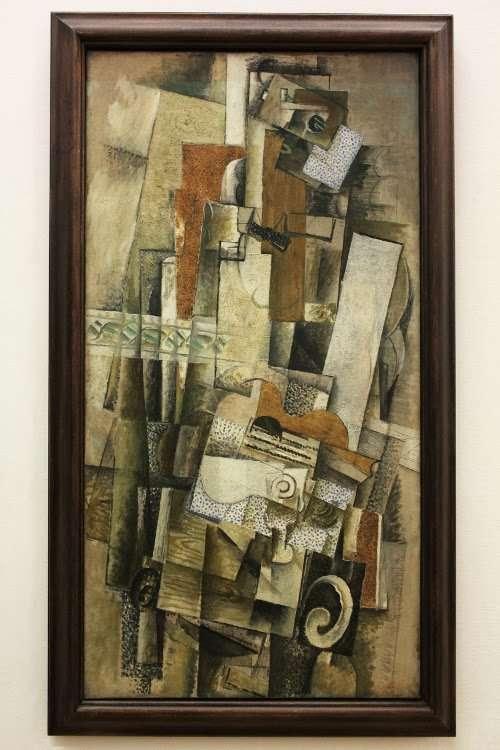 """""""Hombre con una guitarra"""" de Georges Braque (Centro Georges Pompidou)"""