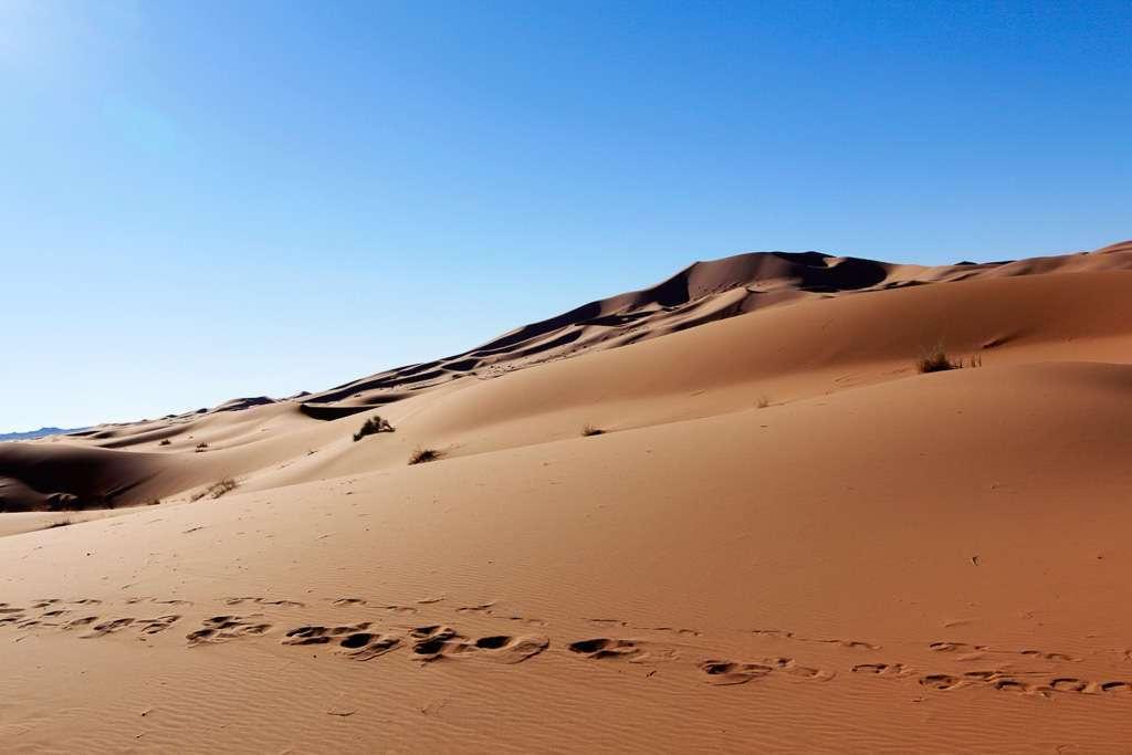 Dunas del desierto de Marruecos