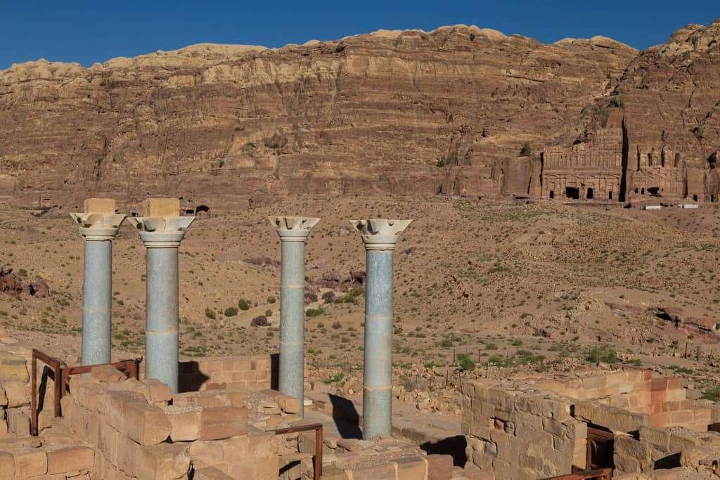 Columnas de la Iglesia Azul de Petra