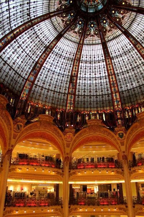 Cúpula y balcones de Galeries Lafayette