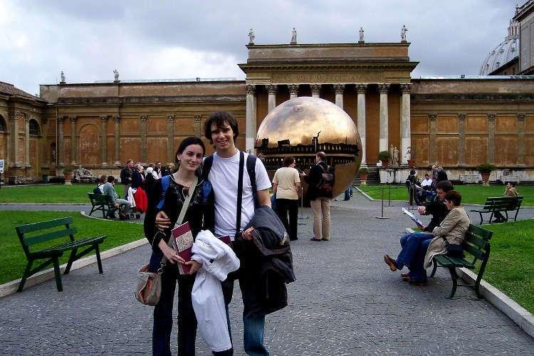 Otra vista del patio de la Piña (Museos Vaticanos)