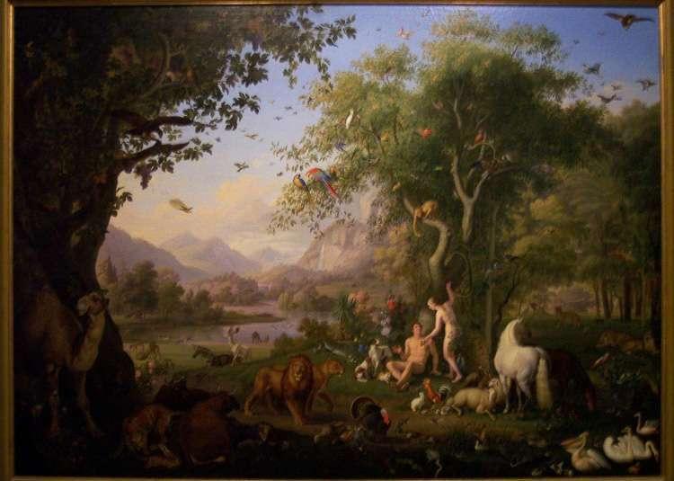 Jardín del Eden en la Pinacoteca de los Museos Vaticanos