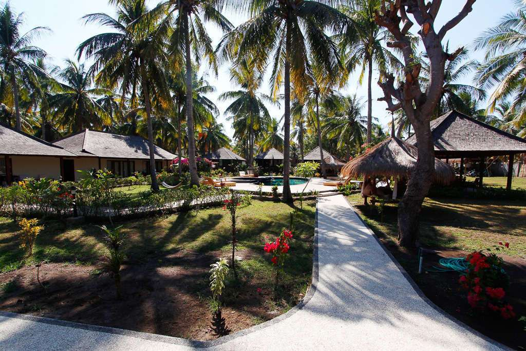 jardín del hotel Trawangan Oasis (Gili Trawangan)