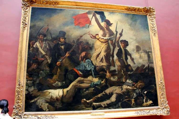 """""""La Libertad guiando al pueblo"""" de Eugene Delacroix (El Louvre)"""