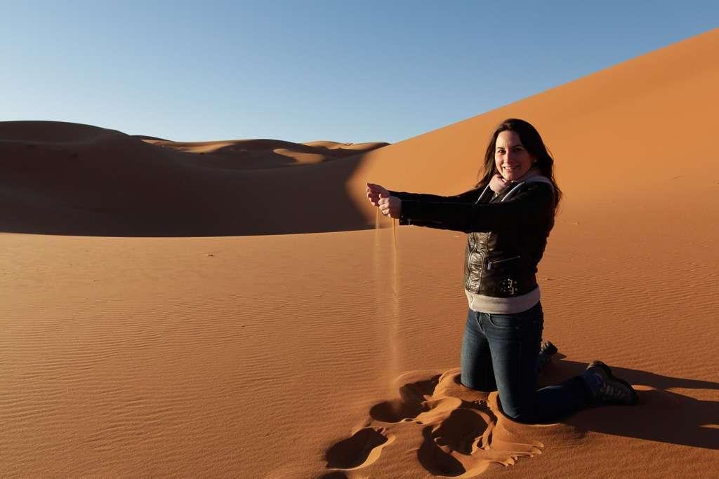 En el desierto del Sahara de Marruecos