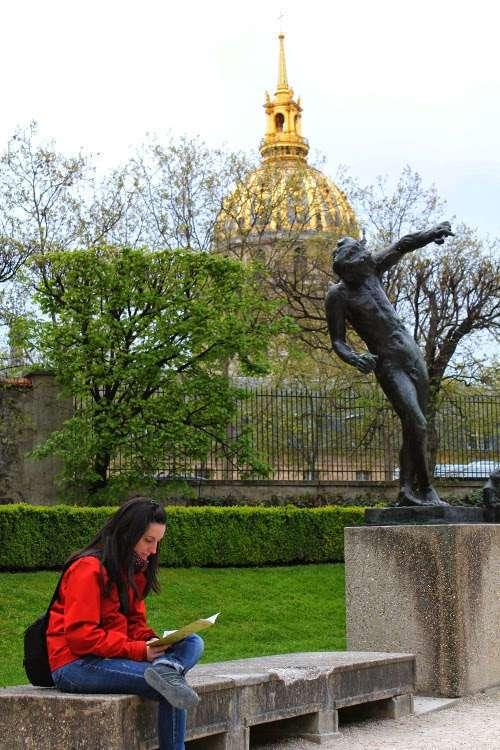 Vista de los Inválidos desde los jardines del Museo Rodin