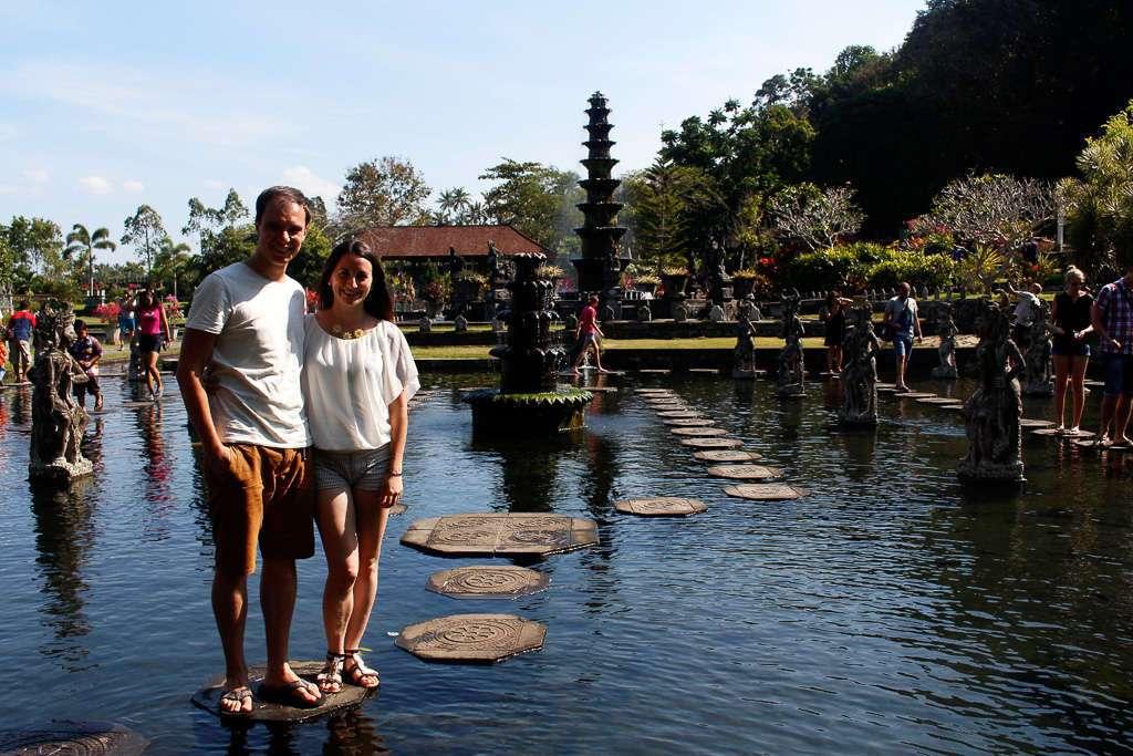 Lena y Alberto en Tirta Gangga