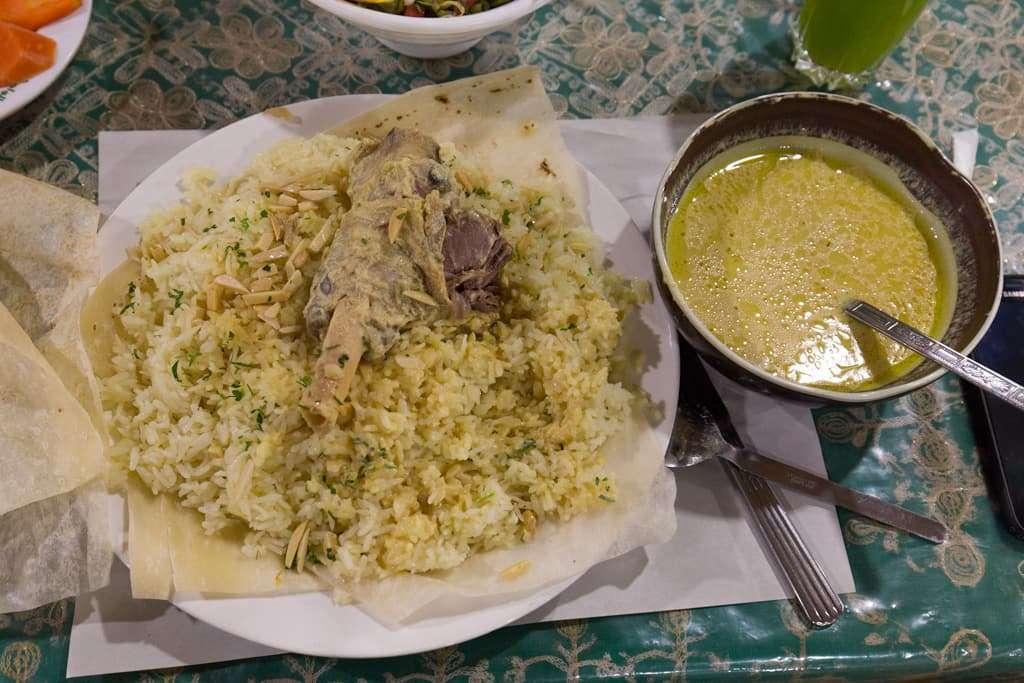 El Mansaf es el plato típico de Jordania