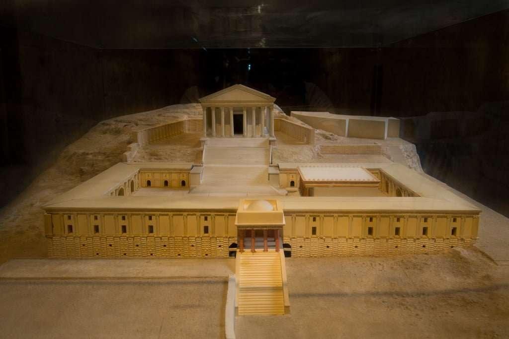 Recreación del Santuario de Zeus de Jerash