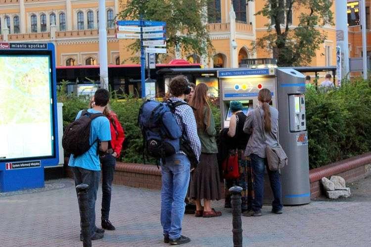 Máquina expendedora de tickets para tranvías de Wroclaw