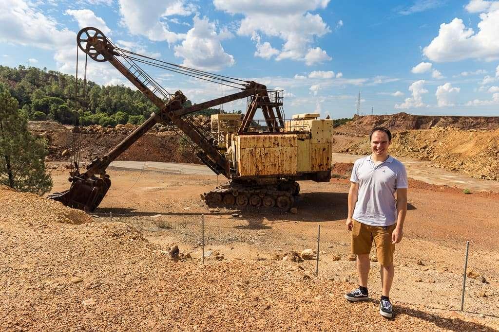 Maquinaria de la explotación minera Minas de Riotinto