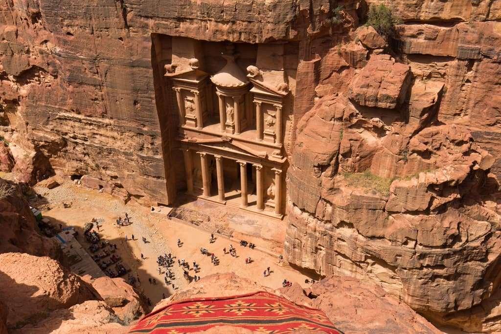 El Tesoro de Petra visto desde arriba, Jordania