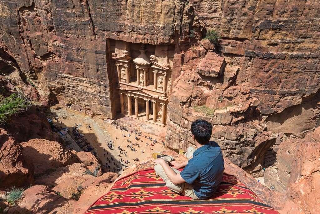 Mejor mirador del Tesoro de Petra, Jordania