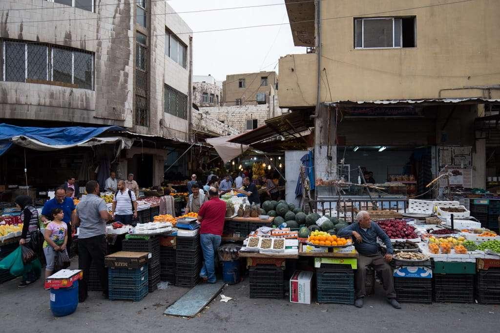Mercado en Amman, Jordania