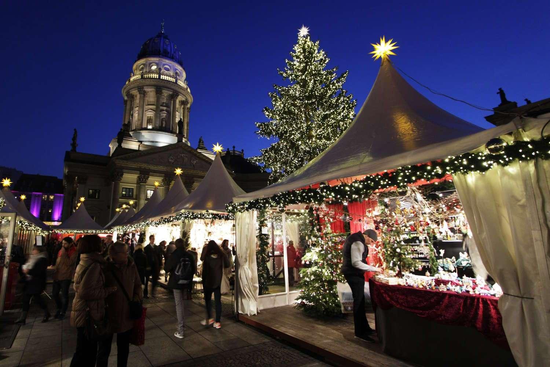 Mercado navideño de la plaza de Gendarmenmarkt