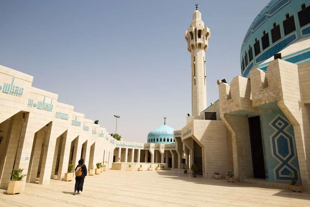 Exterior de la Mezquita del Rey Abdala desde dentro del recinto, Amman, Jordania