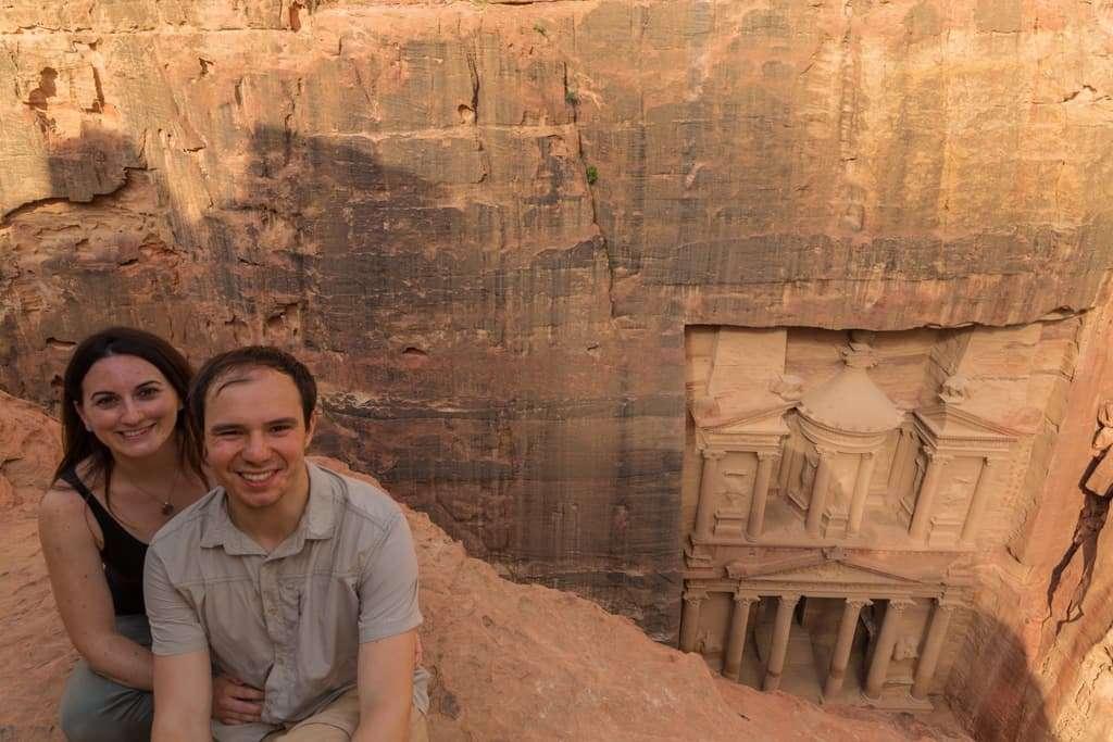Mirador superior del Tesoro de Petra, Jordania