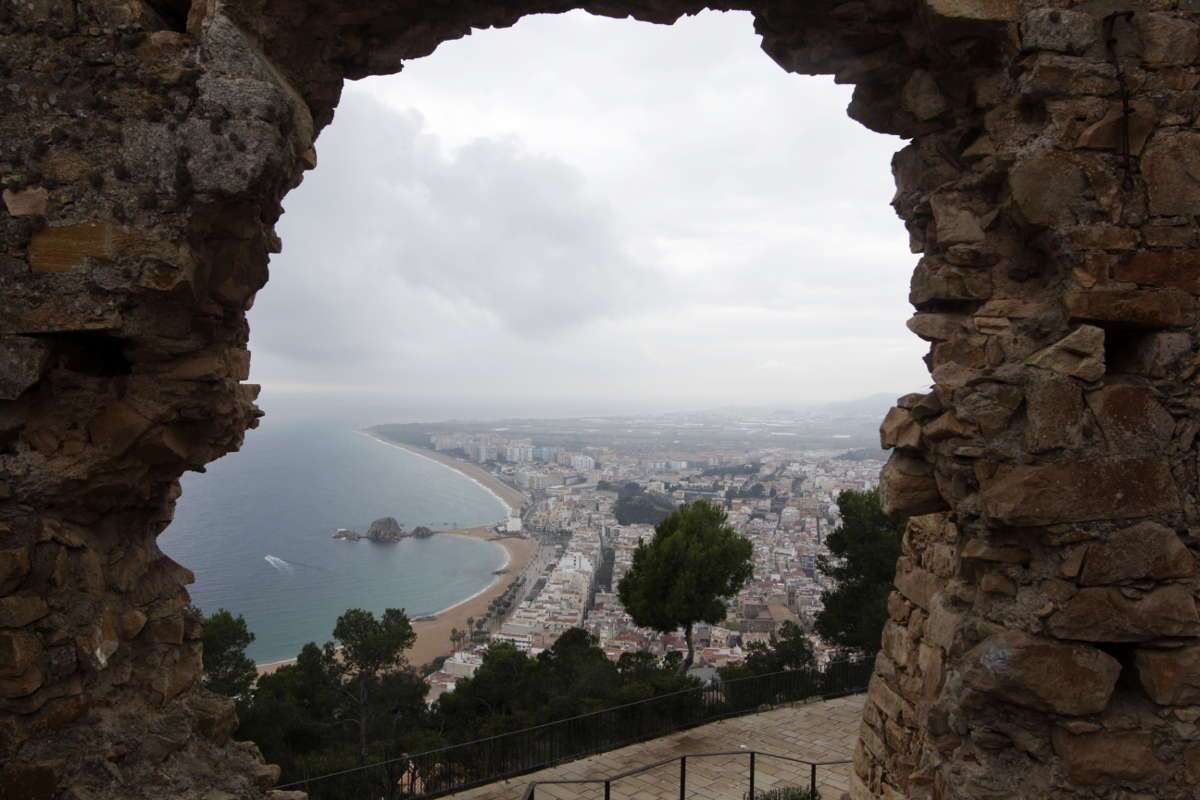 Vistas desde el castillo de Blanes