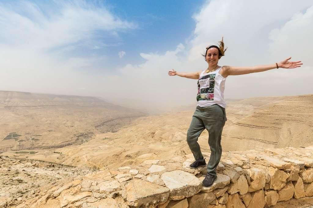 Vistas desde un mirador de la Carretera del Rey, Jordania