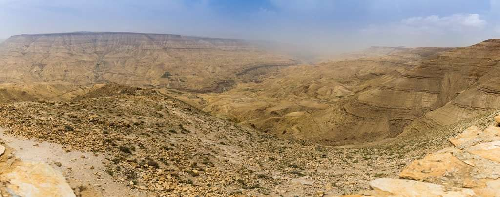 Panorámica desde el mirador de la Carretera del rey, Jordania