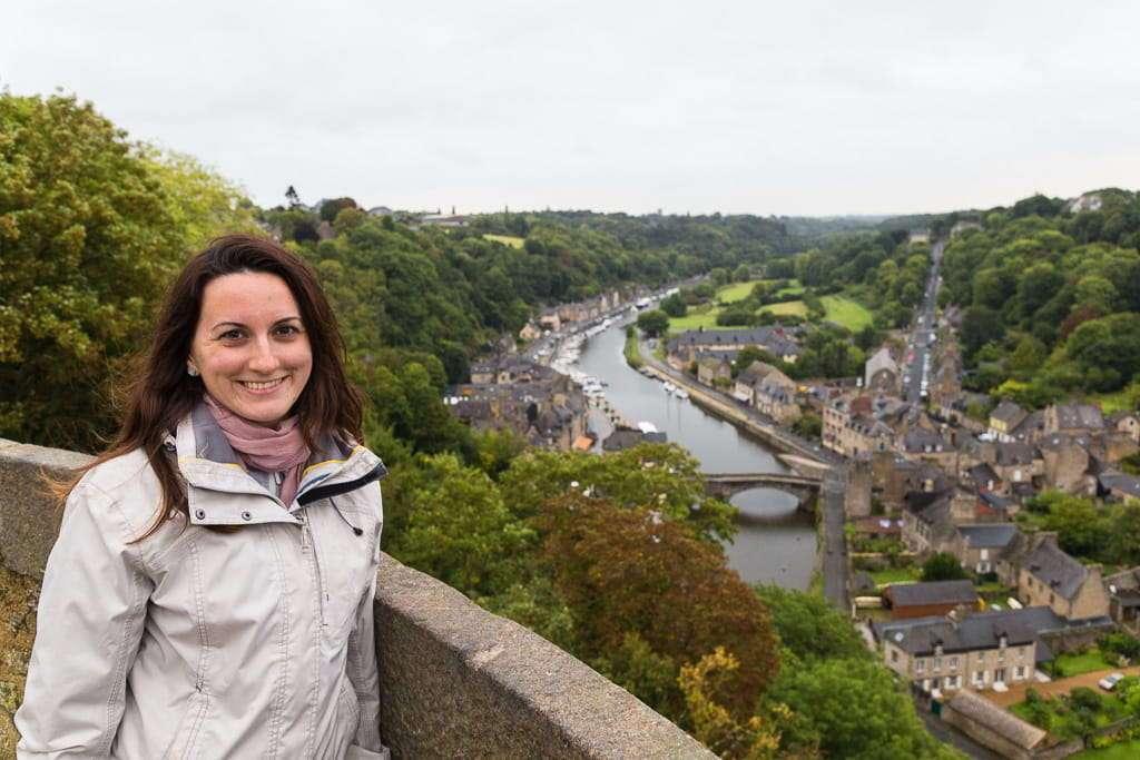 Mirador de Dinan en la Bretaña francesa