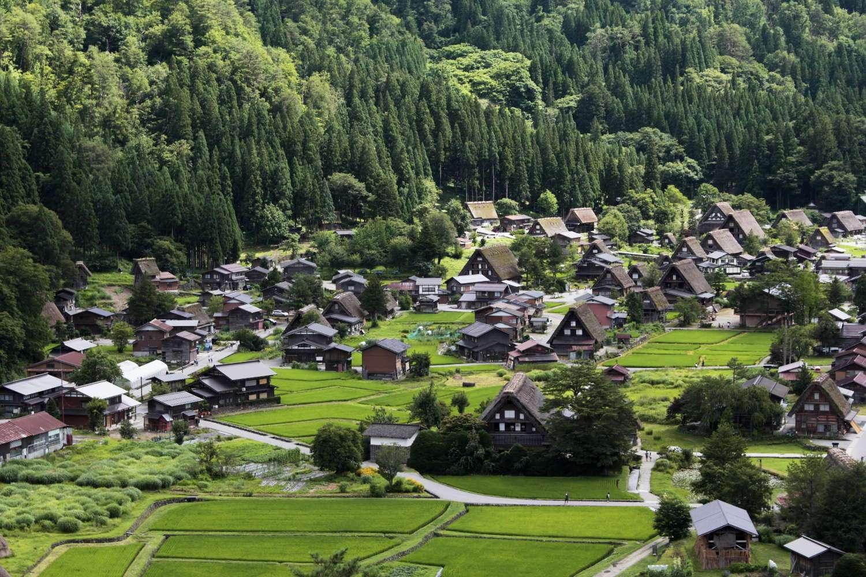 Panorámica de Shirakawa-go, Japón