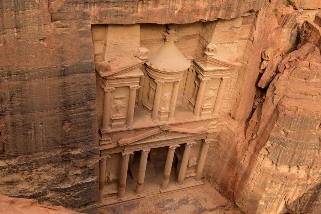 El Tesoro de Petra desde el mirador