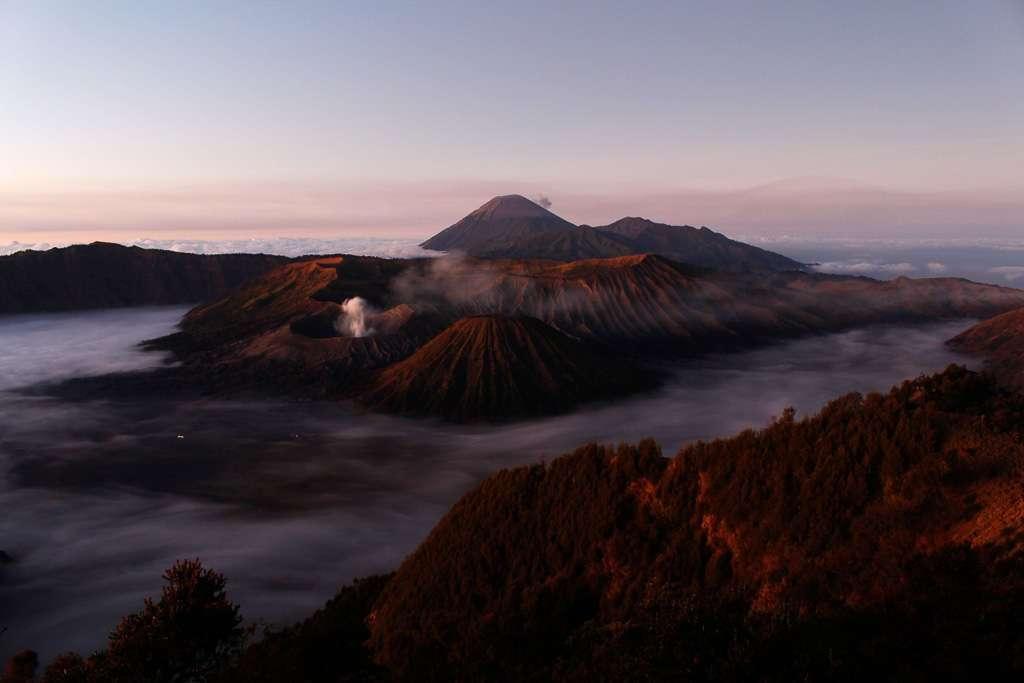 Monte Bromo sin luz