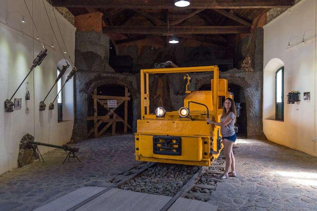 Maquinaria del museo de Minas de Riotinto