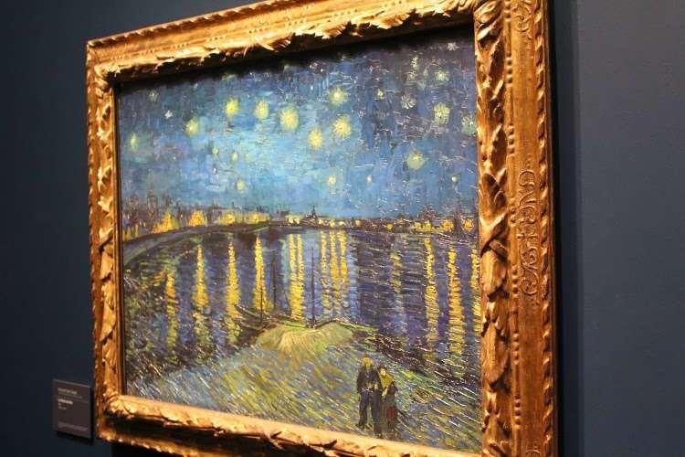 """""""La noche estrellada sobre el río Ródano"""" de Van Gogh (Museo d'Orsay)"""