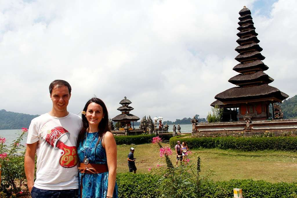 Nosotros en Ulun Danu Bratan (Bali)