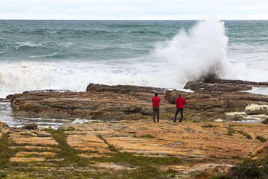 Oleaje en el Cabo de Buena Esperanza, Península del Cabo, Sudáfrica