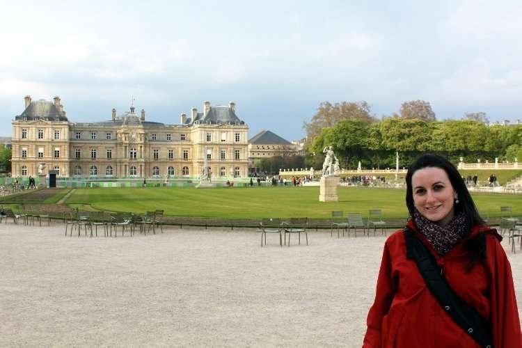 Palacio de Luxemburgo en los Jardines de Luxemburgo