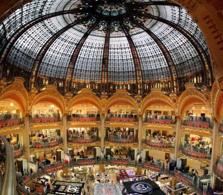 Interior de las Galerías Lafayette