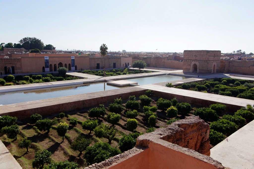 Vista general del Palacio el Badi