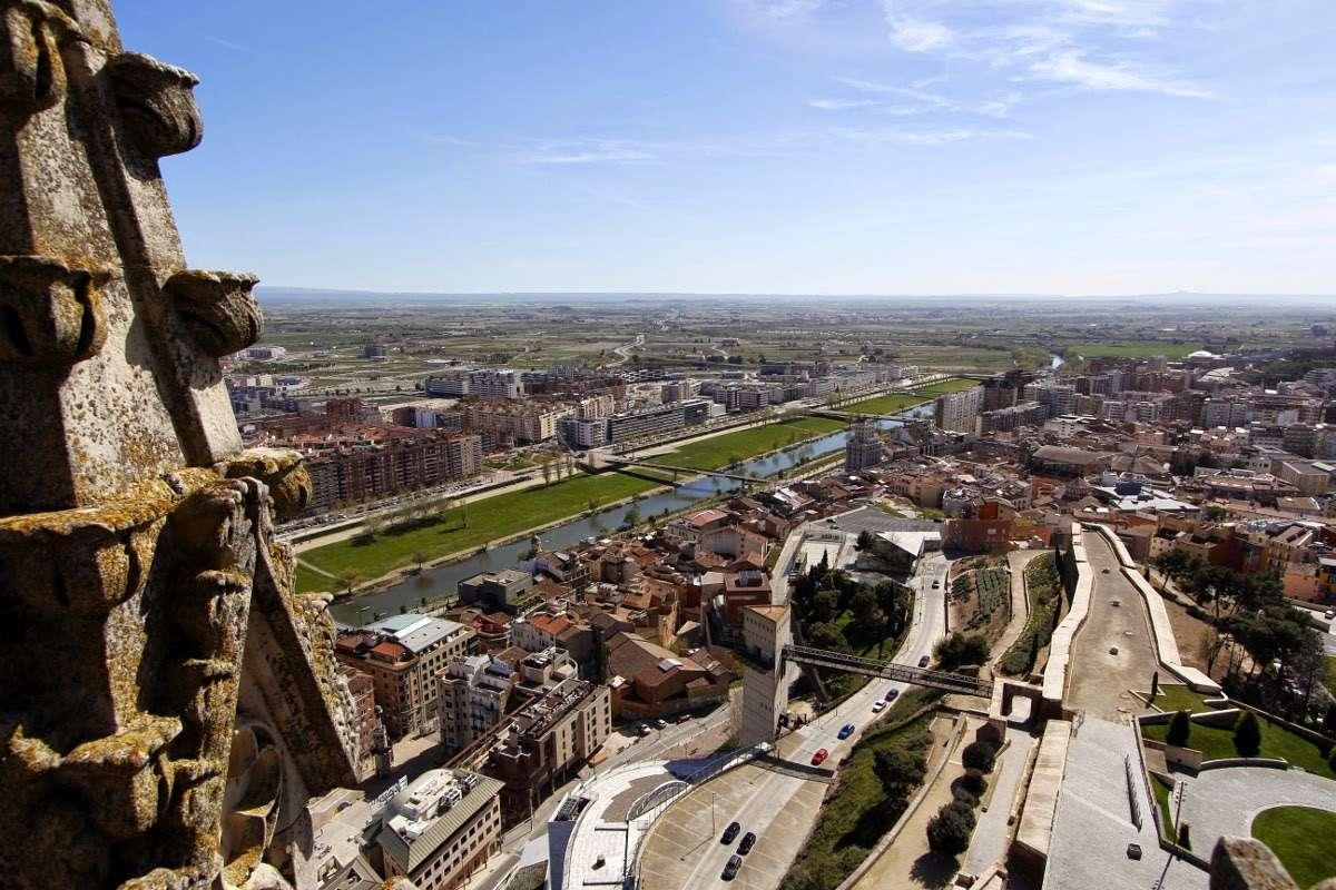 Panorámica de Lleida desde la torre de la Seu Vella