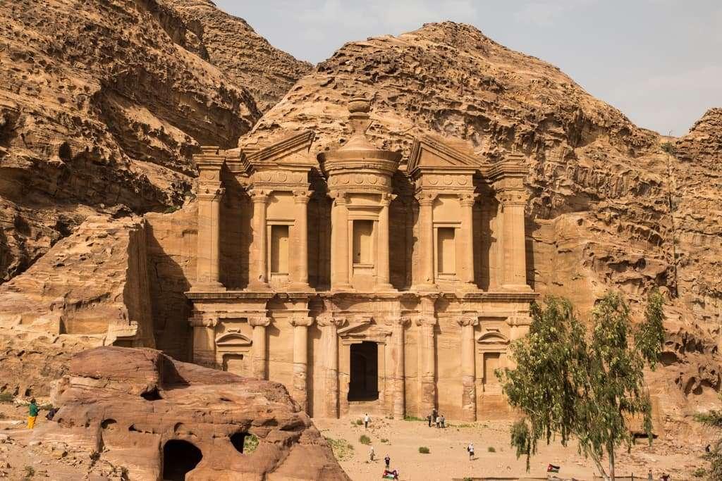 Panorámica del Monasterio de Petra, Jordania