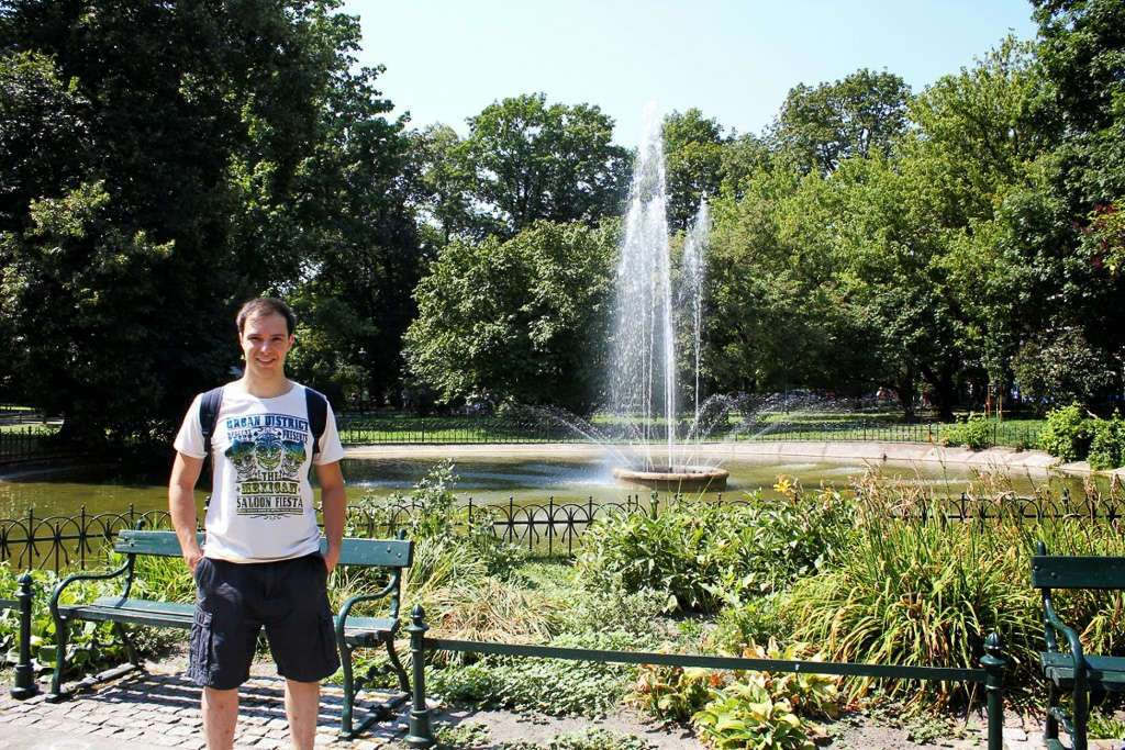 El parque Planty en Cracovia