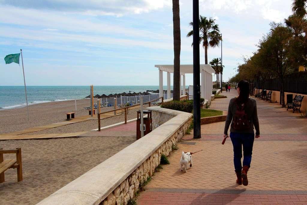 Paseando por el paseo marítimo de Fuengirola