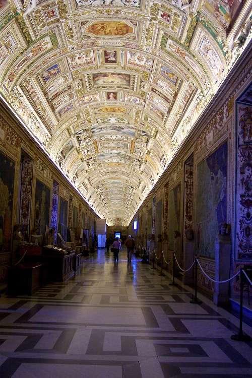 Pasillo de la Galleria delle Carte Geografiche (Galería de los Mapas - Museos Vaticanos)