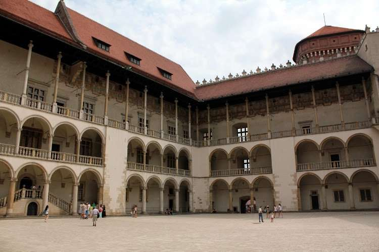 Patio interior del Castillo de Wawel (Cracovia)