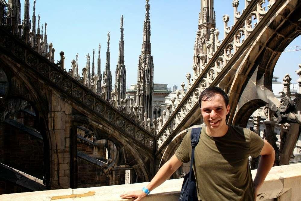 Los pináculos del Duomo de Milán