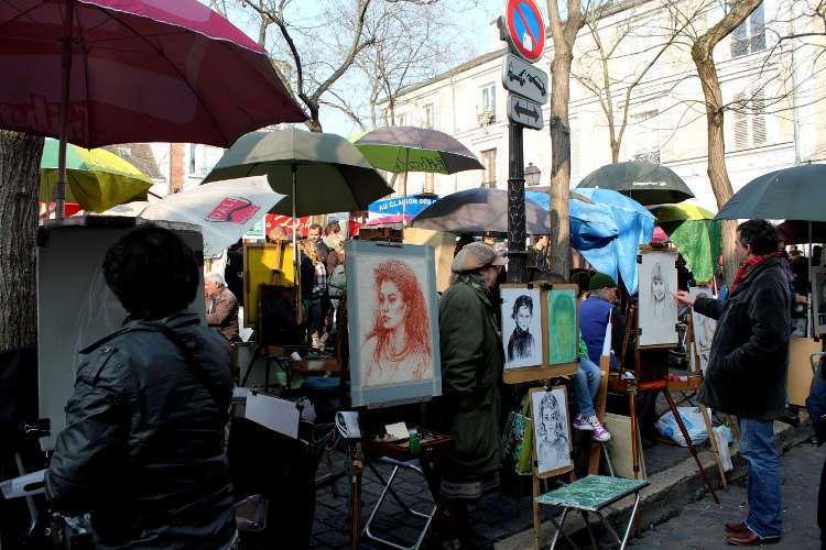 Pintores en la Place du Tertre