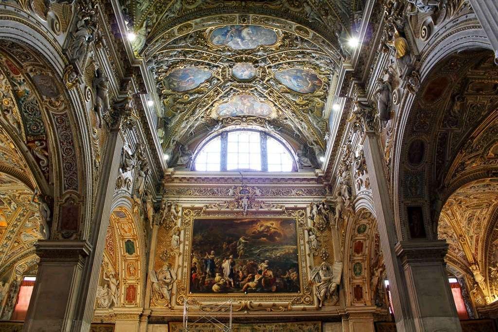 Pinturas del interior de la Basílica Santa Maria Maggiore (Bergamo)