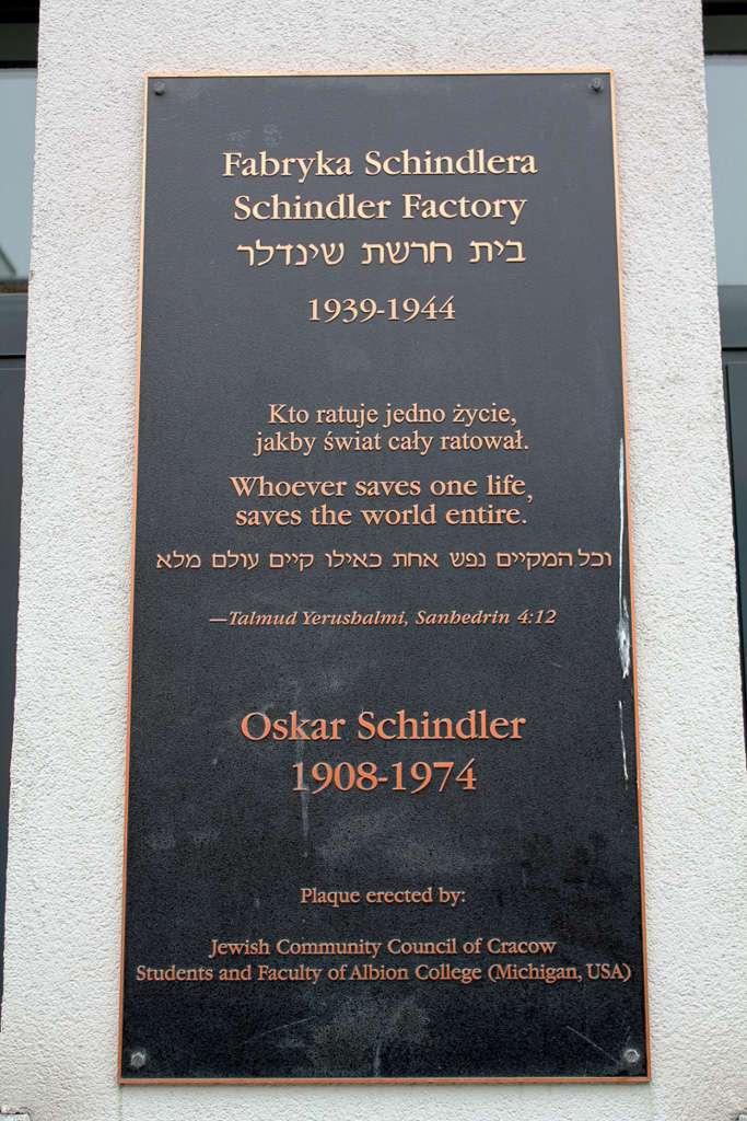 Placa de la Fábrica de Schindler (Cracovia)