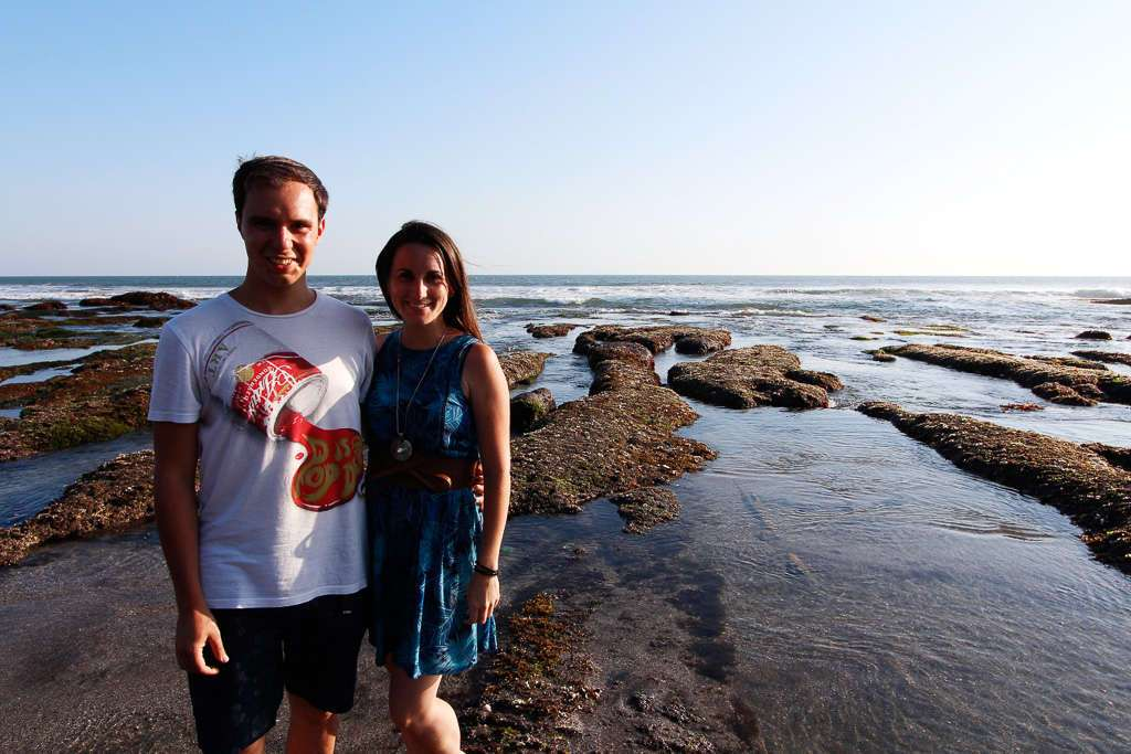 En una playa cerca de Batu Bolong (Bali)
