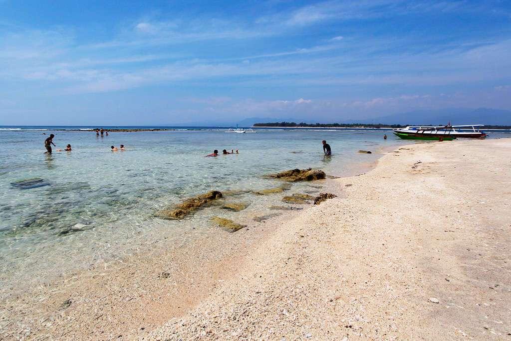 Playa de Goodheart en Gili Trawangan